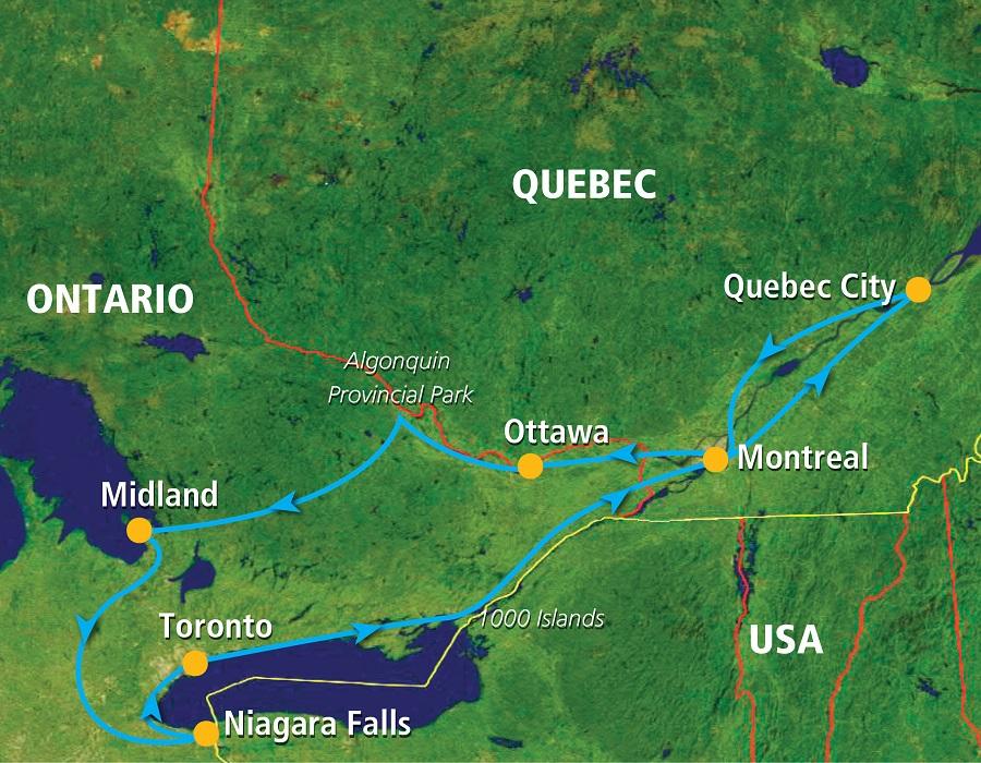 Karte Ostkanada