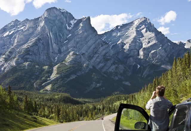 Ausblck während einer Mietwagen Rundreise im Kananaskis Country in Kanada