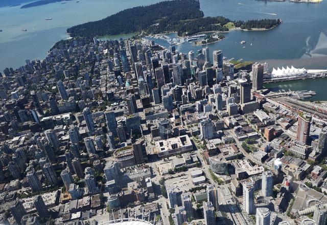 Flug über Vancouver