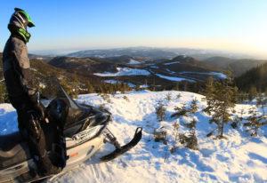 Schneemobil in Quebec