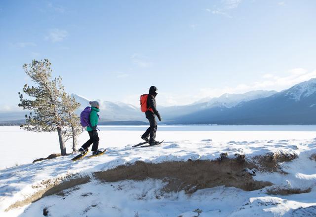 Wandern Schnee Winter Kanada