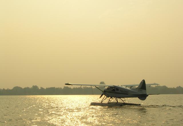 Wasserflugzeug in Quebec