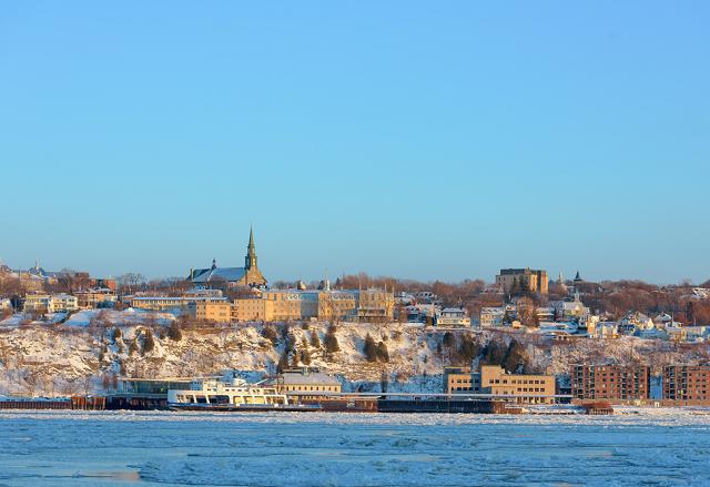 Quebec Stadt Schiff