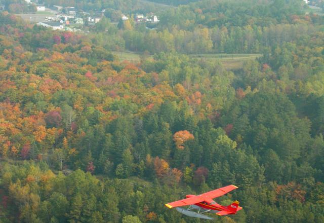 Ausblick aus dem Wasserflugzeug