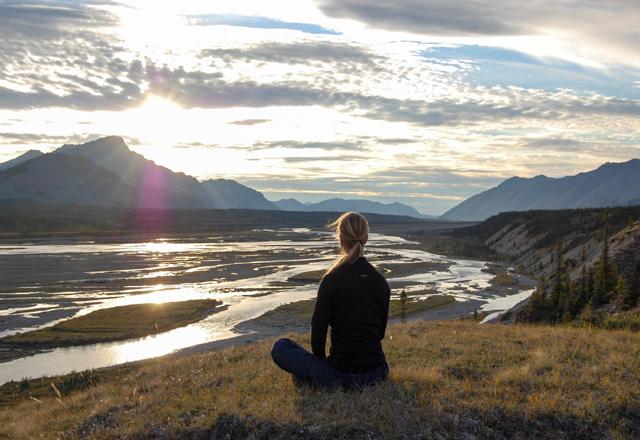Entspannen mit Blick auf den Wind River