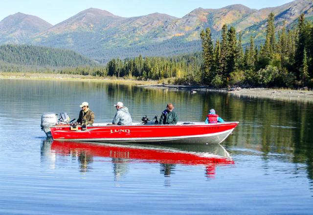 Fischen im Yukon
