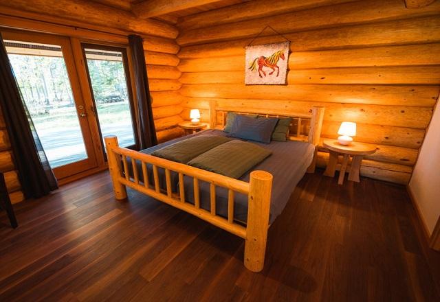 Doppelbett Luxury Log Home
