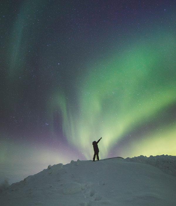 Nordlichter Beobachtung in Kanada