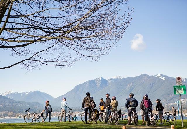 Fahrradfahren in Vancouver